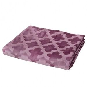 HOLA Selection超柔刷花萬用毯 葡萄紫色