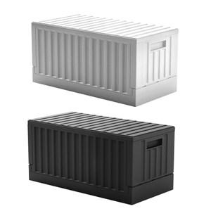 《真心良品x樹德》歡樂派對貨櫃屋組裝收納箱1入組黑色