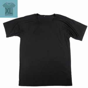 冰礦咖啡紗涼感短袖內著(男)XL 黑色