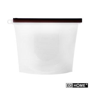 宜居家矽膠食物密封保鮮袋x8入(1000ml)透明