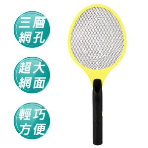 電池式三層式密集網孔電蚊拍