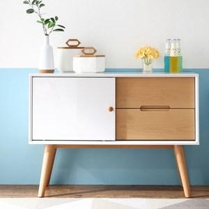 林氏木業北歐櫸木現代簡約餐櫃儲物櫃DK2T(具防倒功能)