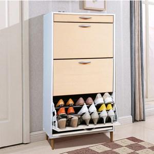 《C&B》第二代薄型大容量三層鞋櫃(三色可選)清新楓木