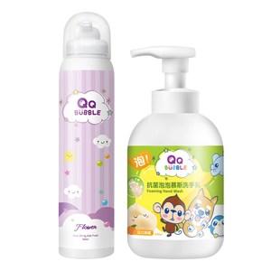 QQ Bubble台灣製抗菌洗手乳洗手慕斯320ml+沐浴泡泡慕斯