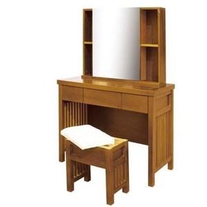 魯娜3.2尺柚木鏡台(含椅)