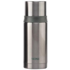 THERMOS膳魔師 不鏽鋼真空彈蓋保溫瓶保溫杯350ml-銀灰色 FEI-351
