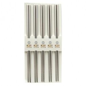HOLA 極簡圓型不鏽鋼筷5入