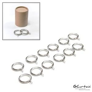 金屬靜音窗簾環 掛勾孔 12入/組 消音吊環、內圈Φ30mm鎳刷線
