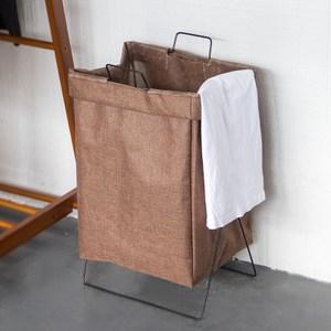 可折疊布質衣物收納籃-摩卡色