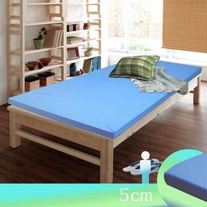 【KOTAS】日式高支撐複合式記憶床墊(5cm單人)-緹花藍