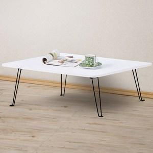 Homelike 便利折合和室桌80x60cm 純白色