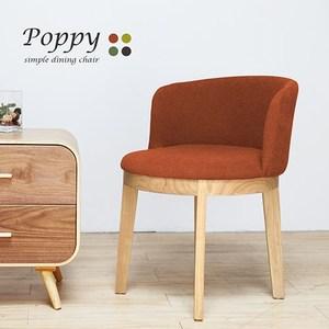 H&D Poppy波比日系繽紛布餐椅棗紅色