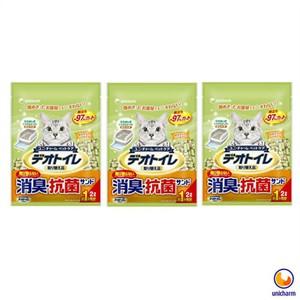 Unicharm 日本消臭大師一月間消臭抗菌沸石砂 2LX3包
