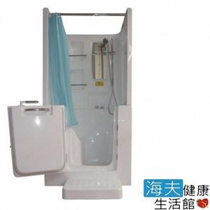 【海夫】開門式浴缸102B-T 恆溫水柱按摩款_100*78*205