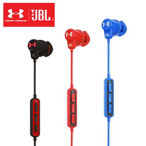 JBL x Under Armour 聯名款耳道式無線藍牙運動耳機藍色