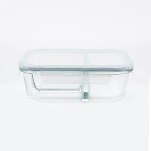 HOLA 微烤兩用半隔斷三格保鮮盒-950ml