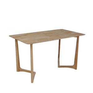 北歐實木靜覓原木色餐桌1.2m+1號淺藍坐墊蝴蝶椅組(一桌四椅)