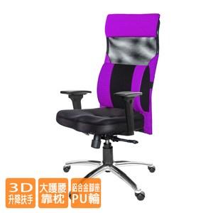 GXG高背美臀電腦椅(鋁合金腳/3D扶手/大腰枕)TW-171LUA9#訂購備註顏色
