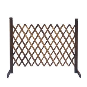 伸縮籬笆架(燻木色) H120