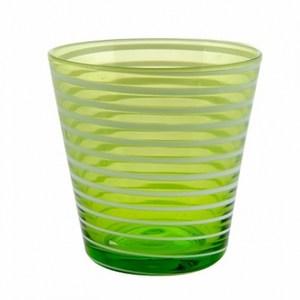 典雅條紋手工水杯 275ml 綠色