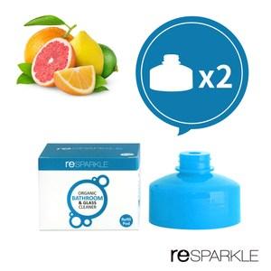 【澳洲reSPARKLE】綠思寶-清潔劑補充蓋-2入(浴室、玻璃)