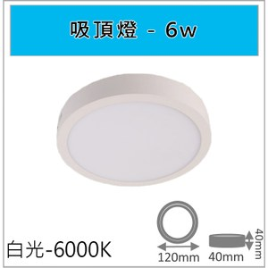 HONEY COMB 經典6W吸頂燈 白光 TAC306-6