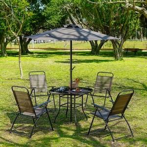 德瑞一桌四椅含傘六件組