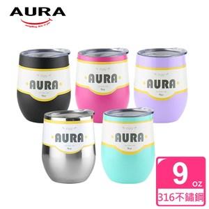 【AURA艾樂】Luck繽紛扭蛋316不鏽鋼真空杯(5色可選)活力粉活力粉