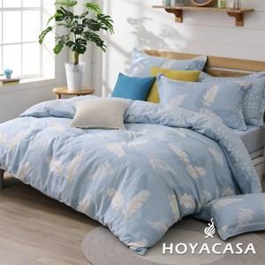 【HOYACASA】美好假期加大200織抗菌精梳棉兩用被床包四件組