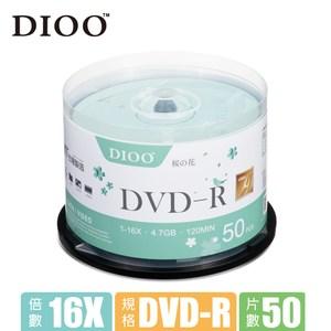 DIOO 櫻花版 16X DVD-R 50片桶綠