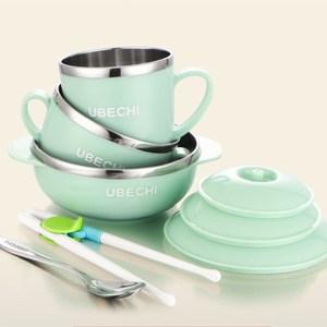 【佶之屋】馬卡龍純色304不鏽鋼餐具湯匙學習筷組清新綠