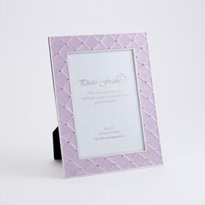 珍羽金屬相框 紫菱格 5X7