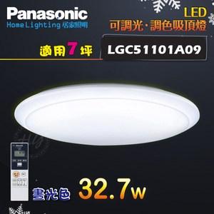 國際牌 【LGC51101A09】LED遙控吸頂燈 無框 7坪 晝光色