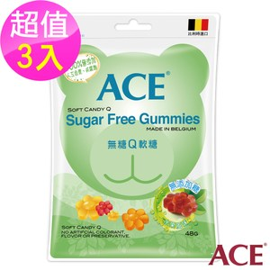ACE 無糖Q軟糖 3入(240g/袋)