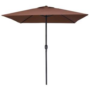 2米直徑四骨方型鐵桿戶外傘 咖啡色款
