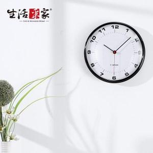 【生活采家】Study Time復古黑時尚靜音掛鐘#14003入