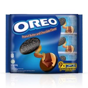 OREO 奧利奧花生醬&巧克力口味夾心餅乾(9x28.5g)x12入