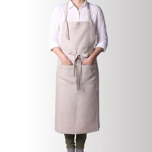 日本 Vermicular有機棉圍裙(亞麻色)