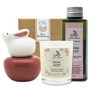 ThaiScent泰香 Mochi兔mini擴香精香氛蠟燭超值組蜜桃甜瓜