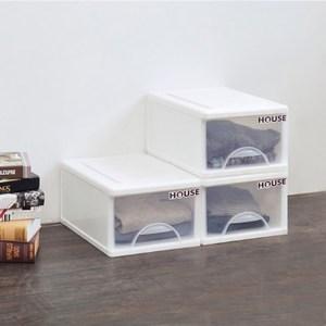 中純白單層收納櫃(單層16.5L) 3入組