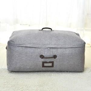 日式布質衣物棉被收納袋-(灰)中