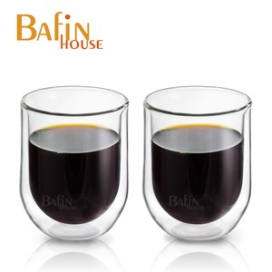 【Bafin House】經典雙層耐熱玻璃杯250ml*2入