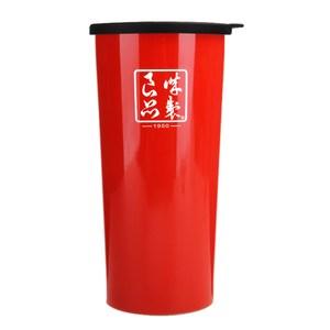 魔法瓶嚴選 304不鏽鋼琺瑯雙層杯450ml-豔陽紅