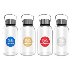 【FUJI-GRACE 富士雅麗】高硼矽耐熱手提玻璃瓶800ml金色