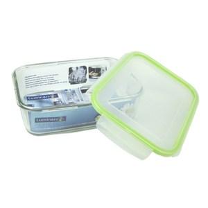 法國【樂美雅】PURE BOX 玻璃長型印花保鮮盒1970ml