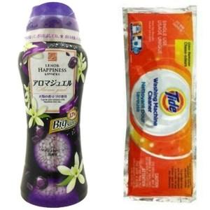美國 Tide洗衣槽劑(75g)*12+【日本P&G】洗衣芳香粒-紫晶(大)*1