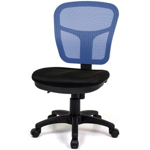 aaronation愛倫國度 耐用型舒適透氣小秘書電腦椅 i-RS-1藍