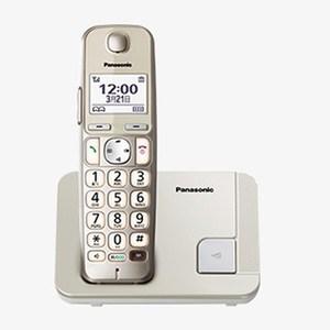 國際 Panasonic DECT中文顯示數位無線電話KX-TGE210 香檳金