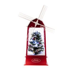 噴雪聖誕音樂燈-風車