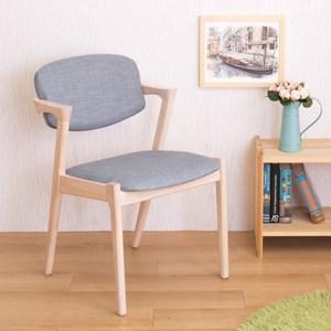 【YFS】莫爾實木餐椅-52x60x78cm(二入組)